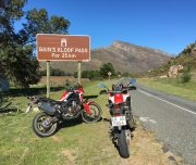 Africa Twin Adventures REd AT at Bainskloof Sign