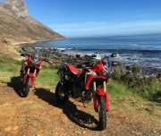 Africa Twin Adventures Red AT at Clarrence Drive