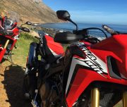 Africa Twin Adventures Red AT at Clarrence Drive 2