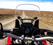 Africa Twin Adventures Karoo view from Bike