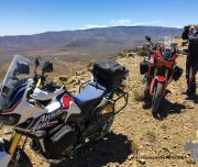 Africa Twin Adventures drinking water on Ouberg Pass